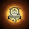 Happy Halloween-Grußkarte auf den Hintergrund der Mond
