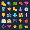 Векторный клипарт: Набор игровых иконок в плоском стиле дизайна