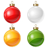 Векторный клипарт: Новогодние шары для дизайна