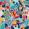 Frohe Weihnachten und Happy New Year nahtlose Muster
