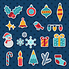 Set Frohe Weihnachten und Happy New Year Icons
