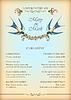 꽃, 새와 꽃 결혼식 카드 | Stock Vector Graphics