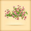 꽃 인사말 카드 분홍색 벚꽃 꽃 | Stock Vector Graphics