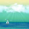 Retro Yacht Sommer-Reise-Plakat