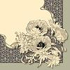 Weinlese mit Blumen-Einladungs-Karte