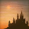 Fantasy Castle Moonlight Sky