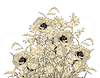Векторный клипарт: Акварель Карандаш рука рисунок Цветы