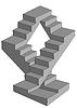 Векторный клипарт: бесконечные лестницы