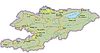 Landkarte von Kirgisistan