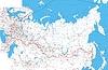 ID 4205466 | Mapa Rosji z rzek i miast | Stockowa ilustracja wysokiej rozdzielczości | KLIPARTO