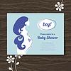 Silhouette der schwangeren Mutter. Babypartyeinladung