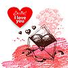 Valentine `s Day Vintage Hintergrund