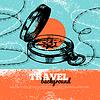 Reisen Vintage Hintergrund. Sea nautische Design.