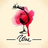 Wein Vintage Hintergrund. Aquarell-Skizze