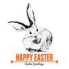 Karta z szkic Królik Wielkanoc | Stock Vector Graphics