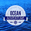 Reise Grunge Hintergrund. Sea nautischen Design.