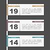 Timeline-Design mit Kalender-Seiten