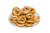 Bagels laid out on plate | Stock Foto