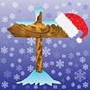 Winter Pfeil und Santa Hut