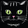 schwarze Katze Kopf