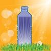 Векторный клипарт: Пластиковая бутылка воды