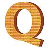 Векторный клипарт: кирпич письмо Q