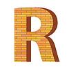 Векторный клипарт: кирпич письмо R
