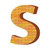 Векторный клипарт: кирпич письмо S