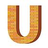 Векторный клипарт: кирпич письмо U