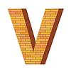 Векторный клипарт: кирпич письмо V
