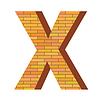 Векторный клипарт: кирпич письмо X