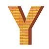 Векторный клипарт: кирпич письмо Y