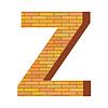 Векторный клипарт: кирпич письмо Z