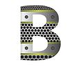 Векторный клипарт: перфорированного металла письмо B