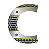 Векторный клипарт: перфорированного металла буква С