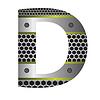 Векторный клипарт: перфорированного металла письмо D
