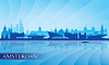 Amsterdam Skyline Silhouette Hintergrund | Stock Vektrografik