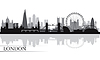 London Skyline Silhouette Hintergrund