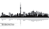 Toronto city skyline sylwetka w tle | Stock Vector Graphics