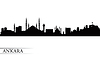 Ankara city skyline silhouette background | Stock Vector Graphics