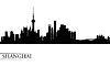 Shanghai Skyline Silhouette Hintergrund | Stock Vektrografik