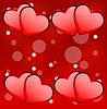 Leuchtend rote Hintergrund mit Herzen