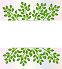 Background for design with green branches | Stock Vector Graphics