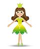 fröhlich Mädchen in der Klage Prinzessin