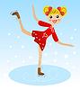 fröhliche Mädchen strebt Laufwerk im schönen Kleid auf
