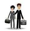 zwei Business-Mann und Frau