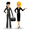 Two slender business woman | Stock Vector Graphics