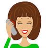 Business-Frau emotional durch Telefon sprechen