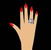 Frau Hand mit Diamantring