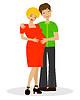 junges Ehepaar im werd von Kinder
